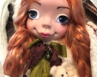 "OOAK Art doll "" Bunny"" OOAK doll, collection doll, interior doll, artist doll, souvenir doll"