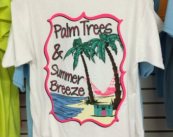 Palm Tree Summer Breeze Tee