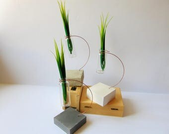 Concrete Vаse, Mini bottle Vase, Hanging Glass vase, Geometric Vase, Mini Glass Vase, Test tube bud vase