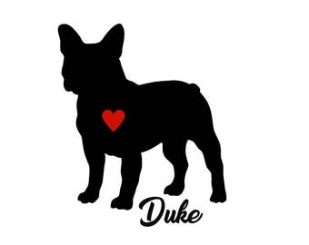 French Bulldog Decal, Personalize With Your Dog's Name,French Bulldog Sticker, French Bulldog, Bulldog Decal, Bulldog Sticker, Dog Decals