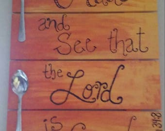 Christian Pallet Wall Hanging