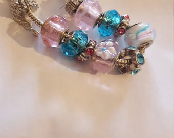 Spring color beaded bracelet