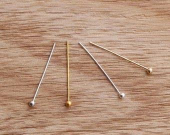 BULK 500 Ball Head Pins ball head needles bead pins earring pin jewelry making pin project craft pins