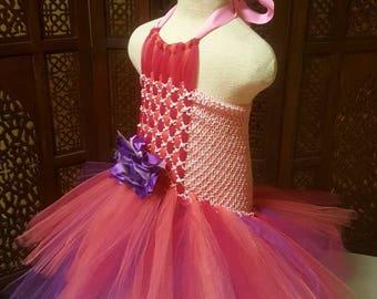 Pink and purple tutu dress size 4T