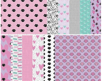 Love Bites 8x8 Papers, Digital Papers, Valentine's Day Digital Patterns, Printables