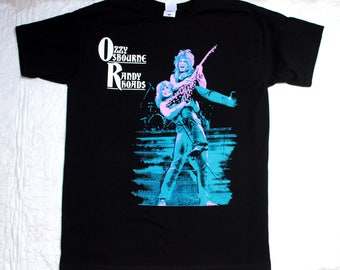 ozzy osbourne randy rhoads black sabbath heavy metal new black t-shirt