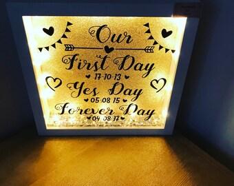 Wedding light up frame