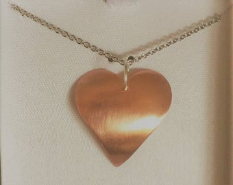 Adventuresome Heart Copper Necklace