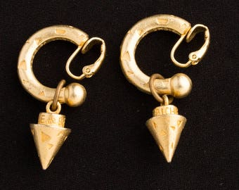 Biche De Bere Vintage 1980s Clip on Earrings