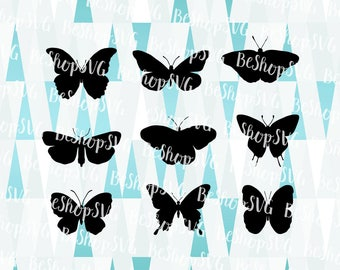 Butterfly SVG, Butterfly bundle SVG, Butterfly silhouette Svg, Monarch Butterfly SVG, Insects Svg, Instant download, Eps - Dxf - Png - Svg