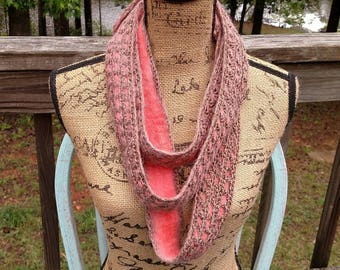 Felted Alpaca and Crocheted Scarf