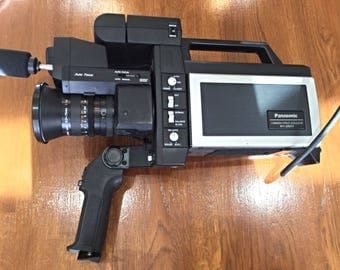 Vintage Panasonic Video Camera WV 3300 F - in good condition with Briefcase