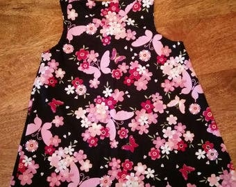 Floral Butterfly Pinafore Dress
