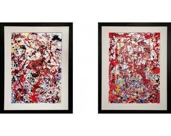 "Abstract Modern Original ""Happiness"""