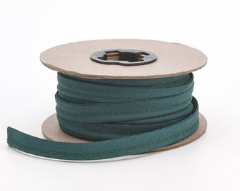 """Broadcloth cord piping, 1/2"""" Wide, 25 yds, Hunter green"""