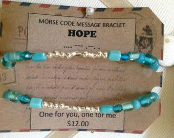 MoRSe CoDe MeSSaGe***HoPe BrAcElets*** secret code one for you one for me!