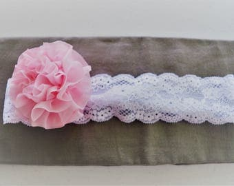 Lace Flower Stretch Headband