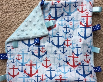 Sail Away 12x12 Minky Tag Blanket