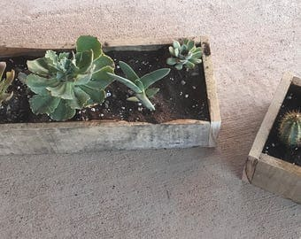 Reclaimed Wood Garden Box- 5x16 Inch