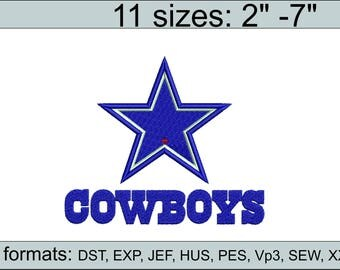 Dallas Cowboys embroidery design logo / embroidery designs / INSTANT download machine embroidery pattern