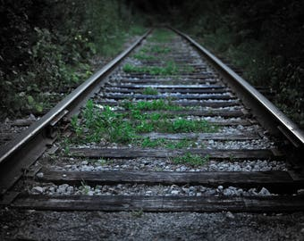 The Tracks; photography; art; photograph; print; photo; train;
