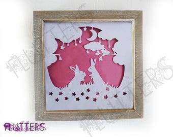 "Box Framed Papercut ""Sweet Dreams"""