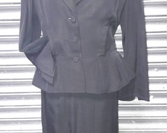 1940s black suit with diamanté detail