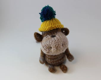 Knitted Simply Cute Amigurumi Monkey
