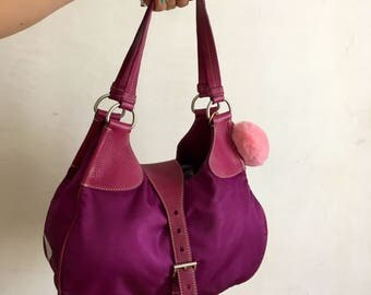 Prada bag violet in technical fabric and leather vintage, original