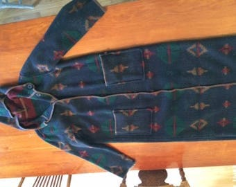 Woolrich new-vintage blanket coat full-length hooded made in USA