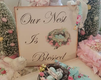 Shabby Chic Hanging Wood Sign