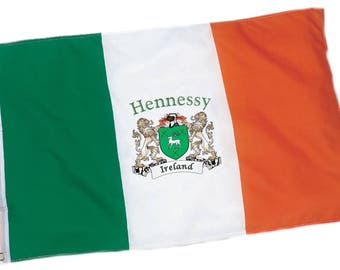 Hennessy Irish Coat of Arms Ireland Flag - 3'x5' foot