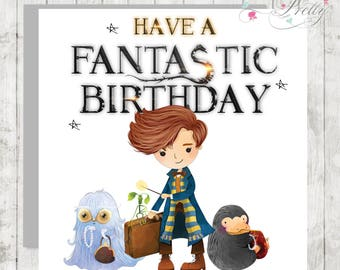 Fantastic Beasts and Where to Find them Birthday Card