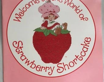 Strawberry Shortcake Vintage Embroidery Patterns Booklet New Old Stock