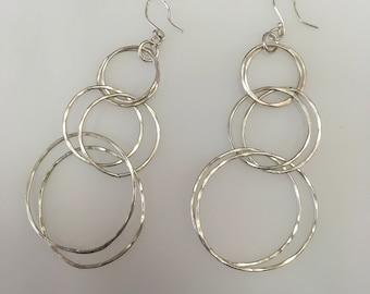 Big Double Hoop Earrings