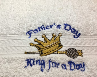 Father's Day King for a Day, Hand Towel