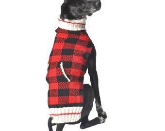 Buffalo Plaid Hand Knitted Sweater