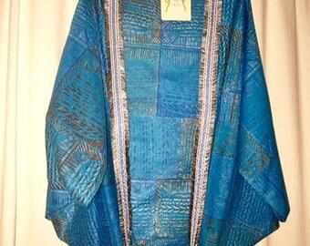 "Kimono Sleeve Style ""Coil Basket(Aqua)"" by Kaft+Kim"