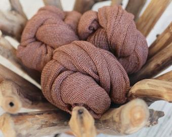 Burgundy Stretch Knit Wrap, Newborn Photography Wrap, Newborn Photography Layers, RTS
