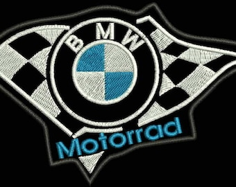 Bmw motorrad LOGO PATCHes 2 size. Machine Embroidery Design. Instant Download.