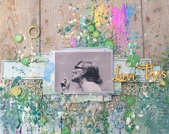 bubbles - 12x12 scrapbook layout