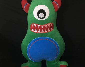 MARTY MONSTER weighted soft toy, 1.5kg poly pellets, autism, ADHD, sensory toy, occupational therapy, calming,
