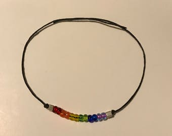 Gay & Lesbian Pride Wish Bracelet