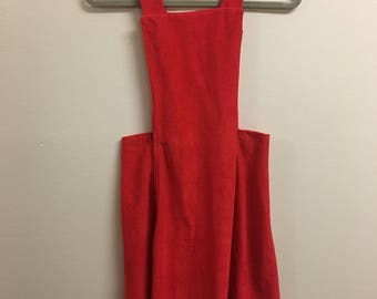 Rare Vintage 1960's Red Pinafore dress
