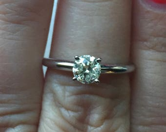 14K 0.60 Solitaire Engagement Ring