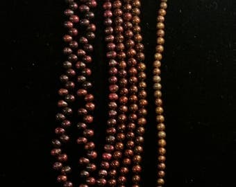 Beautiful Burgundy Freshwater Pearls