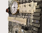 Recycled Black & White Computer Part Clock