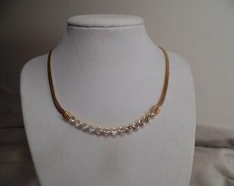 Elegant 1980's Necklace-Swarovski