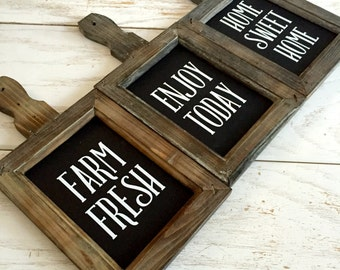 Enjoy Today Home Sweet Home Farm Fresh Breadboard Magnolia Market Fixer Upper Kitchen Decor Rustic Wood Sign Bread board Kitchen Sign