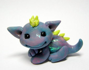 OOAK Precious in blues Tie Dyed Dragon Trollfling by Amber Matthies